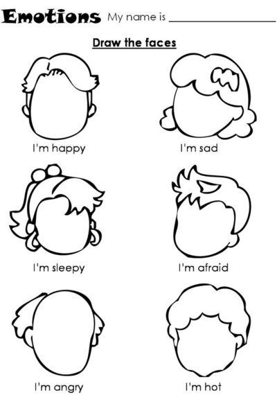 Emotional Pictures to Draw Emotions-draw The Faces