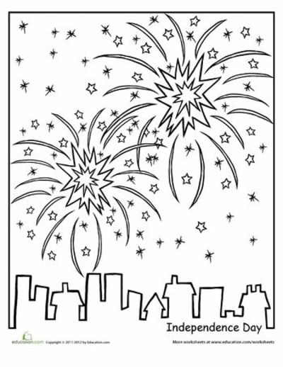 Worksheets Independence Day Coloring Page Preschool Items Juxtapost