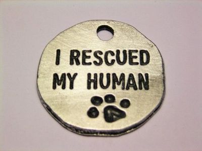 Perfect charm for a rescue dog owner