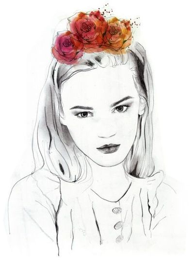 and she wore flowers in her hair.. by sarah hankinson