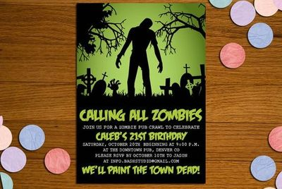 Zombie Birthday Invitations gangcraftnet