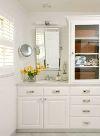 tall cabinet glass door bath ideas juxtapost