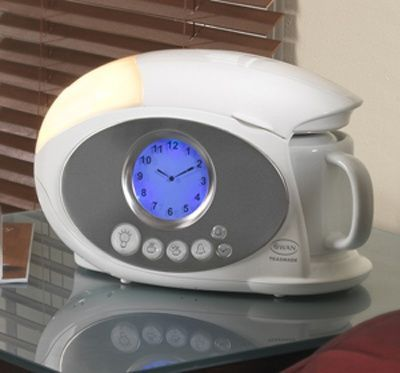 coffee maker and an alarm clock all in one compact bedside d... / For College - Juxtapost