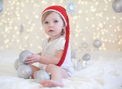 Christmas Lights Background Diy Cute Photography Baby Time  - Baby With Christmas Lights