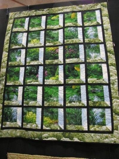 Fantastic example of attic window quilt quilting fever for Window quilts