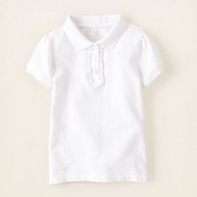 baby girl - short sleeve tops - uniform ruffle polo   Children's Clothing   Kids Clothes   The Children's Place