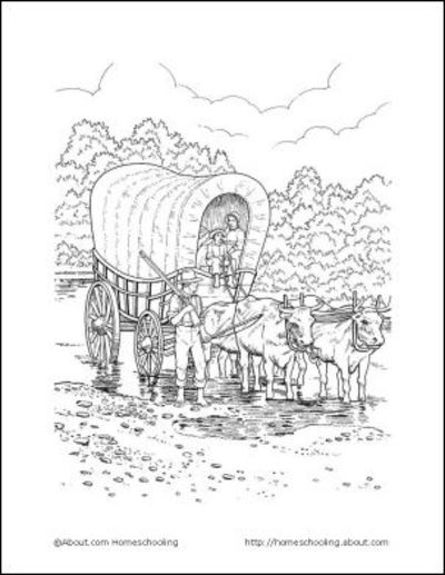 wagon train coloring pages | 1000+ images about Covered Wagon on Pinterest | Covered ...