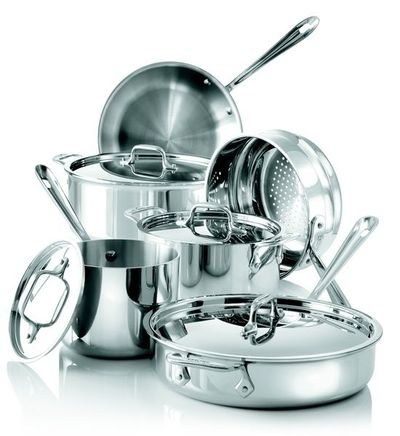 #All-Clad® Stainless Steel 10-Piece #Cookware Set