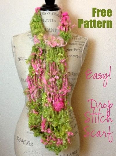 Drop Stitch Scarf Knit Pattern : Free Knitting Pattern: Easy Drop Stitch Scarf! / knits and kits - Juxtapost