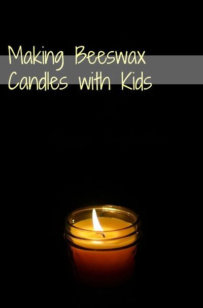 Making Beeswax Candles with Kids