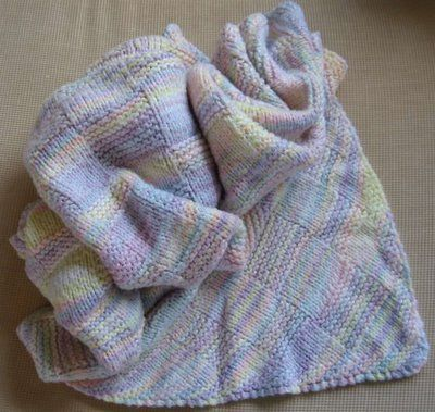 Diagonal Knit Basketweave Baby Blanket / knitting patterns ...
