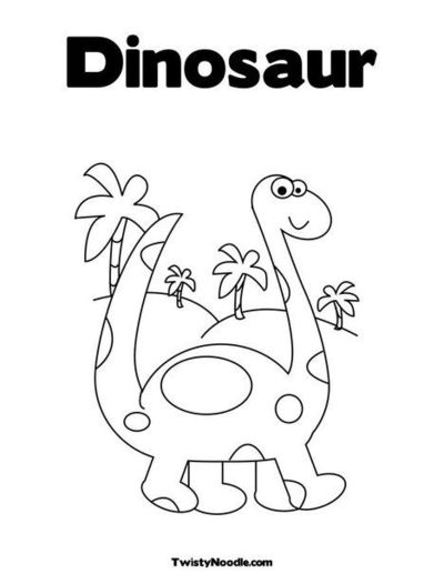 Free Coloring Pages Of Dinosaur For Kindergarten