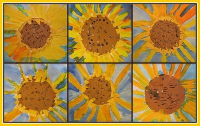 Art Project To Go Along With Van Gogh And The Sunflower
