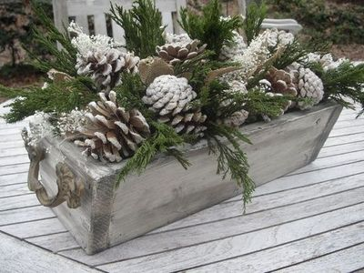 rustic glitter pine cone planter sparkly pine cones bleac christmas xmas ideas juxtapost. Black Bedroom Furniture Sets. Home Design Ideas