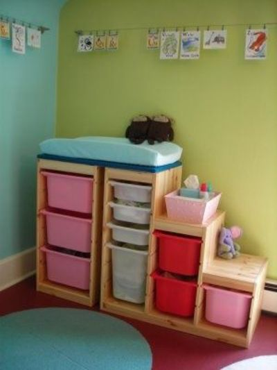 diy ikea trofast baby changing table baby time juxtapost. Black Bedroom Furniture Sets. Home Design Ideas