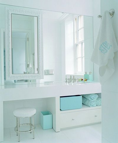 Pretty White Turquoise Bathroom Piet Boon By This Is Glamorous