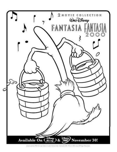 Free sorcerer mickey coloring pages