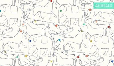 """Animal"" wallpaper by Minakani (oversized pattern)"