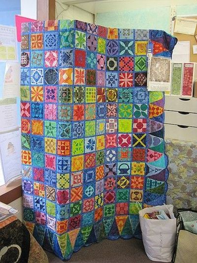 Dear Jane quilt made with batiks