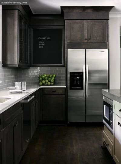 Contemporary kitchen design love the grey toned stained