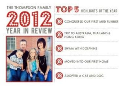 mixbook modern year in review christmas cardthis is cool because i feel - Year In Review Christmas Card