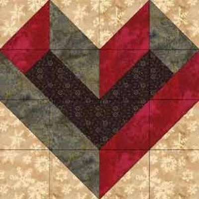 Free Heart Quilt Block Patterns : Boxed heart - free block pattern / quilting fever - Juxtapost