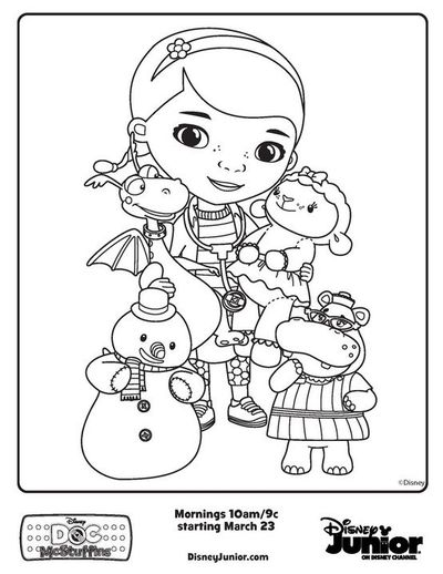 Doc McStuffins friends - Free Printable Coloring Pages / baby time ...