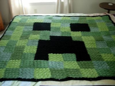 Free Crochet Pattern For Minecraft Afghan : kid stuff on Pinterest Cardboard Boxes, Creepers and ...
