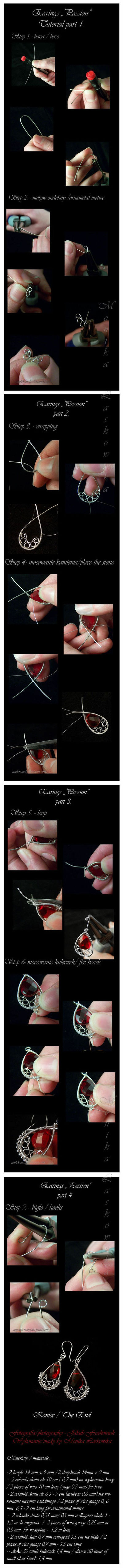 diy, diy projects, diy craft, handmade, diy passion earrings