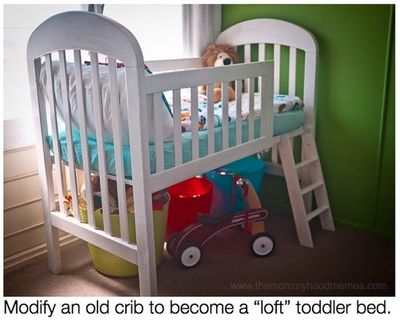 how to transform your crib into a toddler loft bed