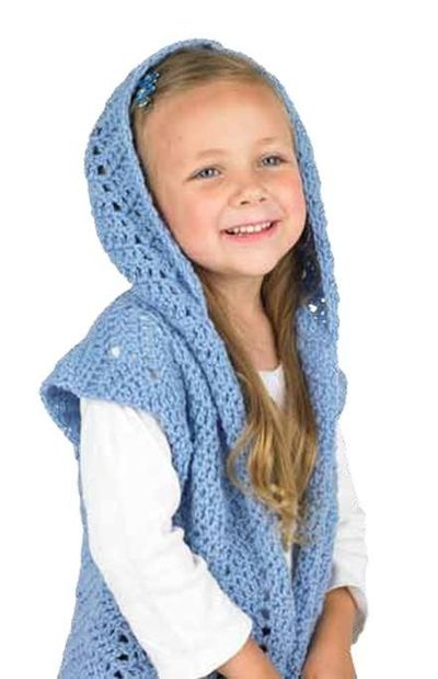 Chevron Childrens Hooded Vest Free Crochet Pattern Knits And
