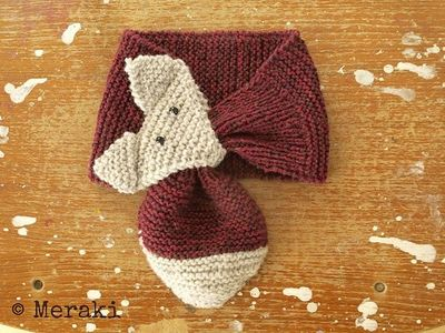 Free Knitting Pattern For Fox Scarf : Ravelry: Fox Scarf FREE pattern / knits and kits - Juxtapost