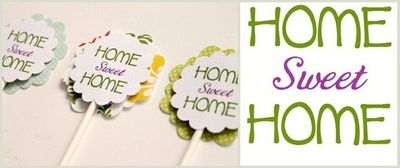 Housewarming Party Cupcake Toppers
