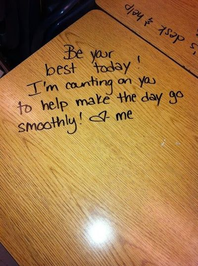 Love notes for when there is a sub