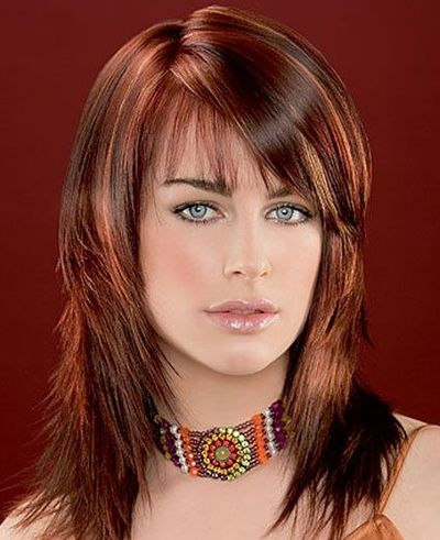Medium Red Brown Hair Color With Highlights Images & Pictures - Becuo