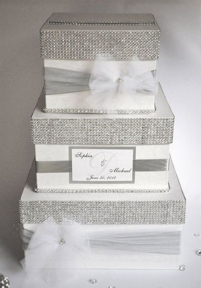 Baseball Wedding Gift Card Box : Card box / Wedding Box / Wedding money box - 3 tier - Personalized ...