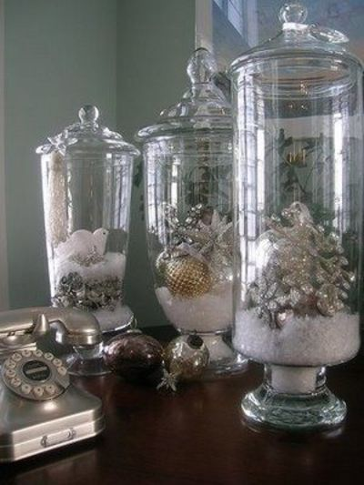 Christmas winter apothecary jar fillers christmas xmas ideas juxtapost - Ideeen decor ...