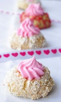 Valentine's Day Thumbprint Cookies