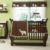 Green Elephant 4 Piece Baby Crib Bedding Set by Carters