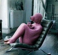 Kitted person cozy