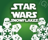 Star Wars Snowflakes ~ Templates to cut snowflakes like Darth Vader, Han Solo, THE DEATH STAR!!! Completely awesome. - Click image to find more Design Pinterest pins