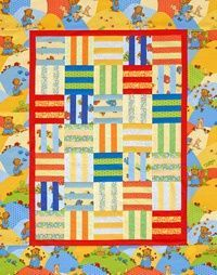 simple rail fence baby quilt with instructions