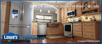 Save 20% on Lowes in-stock finished kitchen cabinets!