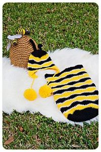 Ravelry: Buzzy Bumble Bee Newborn Photography Prop Set pattern by Melanie Padron