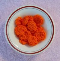 CARROT SLICES - free crochet pattern