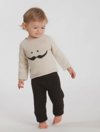 Mustache sweater in slate/light grey