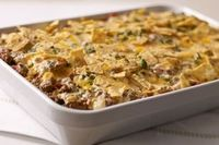 Tex-mex beef & Rice casserole 1 lb. extra-lean ground beef 1 can (14 oz.) fire-roasted diced tomatoes, undrained 1 can (11 oz.) corn with red and green bell peppers, undrained 1/2 cup chopped onions 1 tub (10 oz. ) PHILADELPHIA...