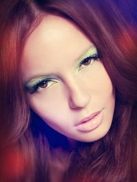 Vintage sixties style make-up and hair.