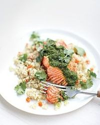 Moroccan Steamed Salmon with Quinoa