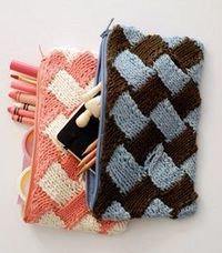 Easy Entrelac Bag | AllFreeKnitting.com